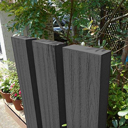 igarden アイガーデン 枕木 ブラック 150cm3本セット アイウッド人工木製 B018HWXTNC 12800