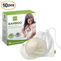 Discos de Lactancia de Bambú Orgánico, Almohadillas de Lactancia Reutilizables y Lavables