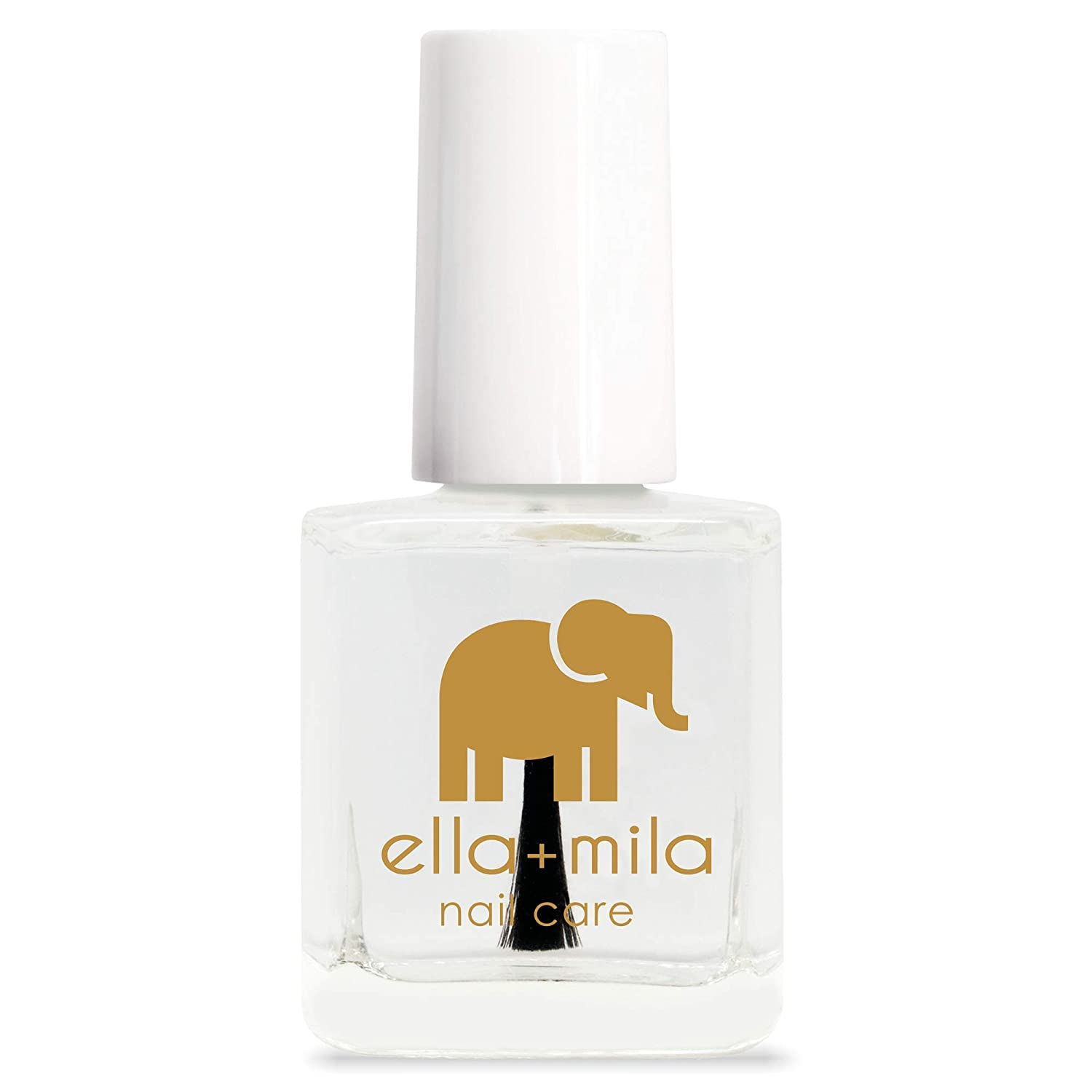 ella+mila Nail Care, Quick Dry Top Coat - In a Rush (high glossy shine, UV inhibitor which prevents yellowing)