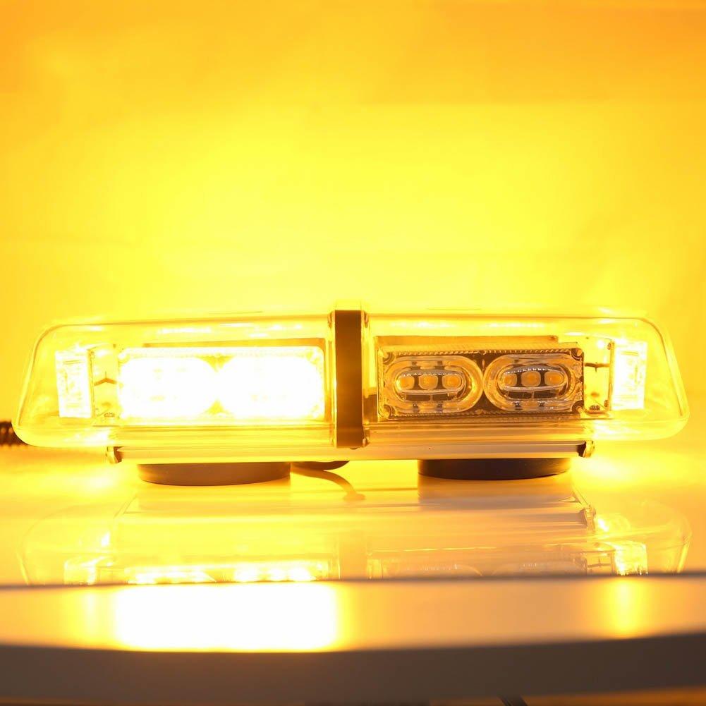 Henreal 12 V 36 LED Auto Dach Top Mini Bar Stroboskoplicht Auto Notlicht Warnleuchte mit magnetischer Basis