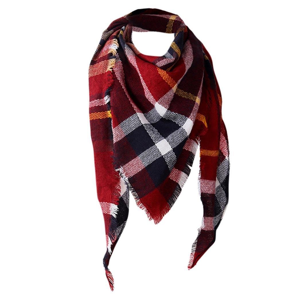 a35032baa98d Malloom® Femme Echarpe Châle Cachemire Automne Plaid Treillis Laine foulard   Amazon.fr  Vêtements et accessoires