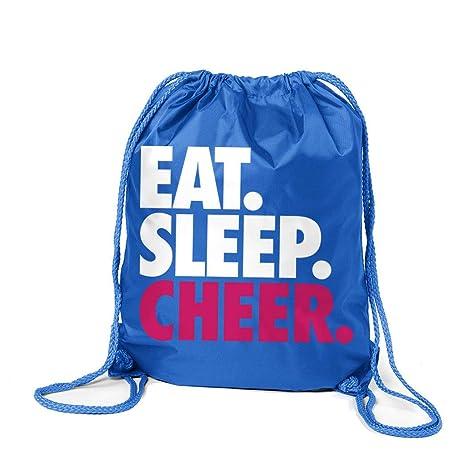 8c30b81b6db3 Cheerleading Sport Pack Cinch Sack   Eat Sleep Cheer   Royal