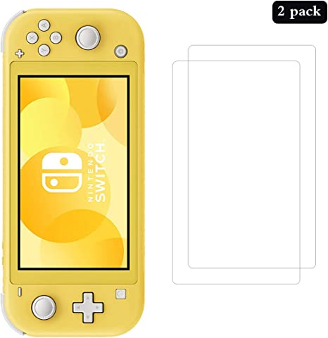 AhaSky 2X Protector de Pantalla para Nintendo Switch Lite Cristal Templado, Resistente a Arañazos Vidrio Cristal Templado, [2.5d Borde Redondo] [9H Dureza] [Alta Definicion]: Amazon.es: Videojuegos