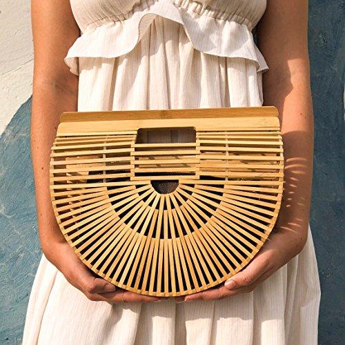 Ark Bag Bamboo Womens Bamboo Matahari Beach Clutch by Handmade Purse Handbag 4qYgY0wU