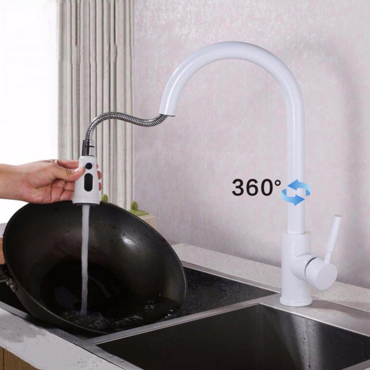 C1 MulFaucet Copper pullable Kitchen Faucet hot and Cold Sink Faucet Sink Matte Black Faucet A1