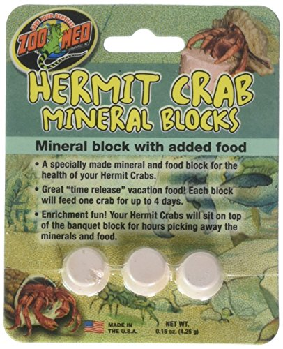 (4 Pack) Zoo Med Laboratories Zoo Hermit Crab Mineral Blocks by Zoo Med