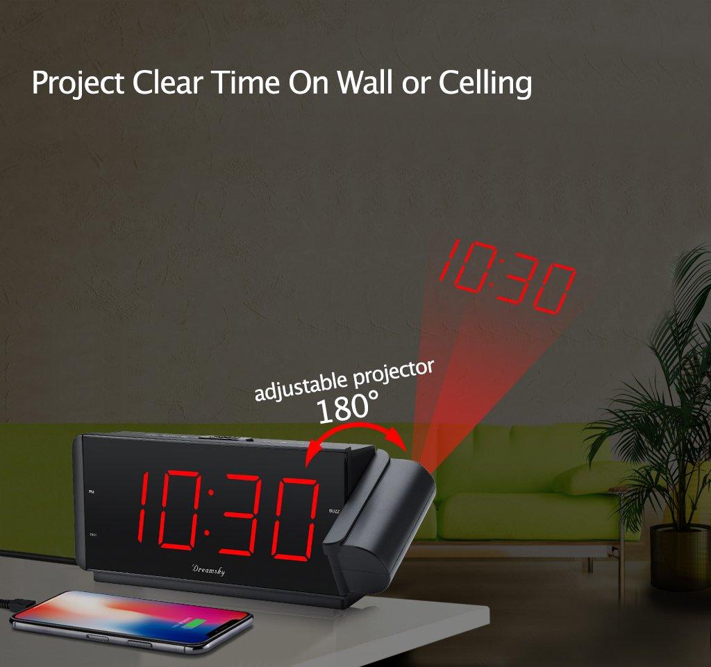 Amazoncom DreamSky Projection Alarm Clock Radio with