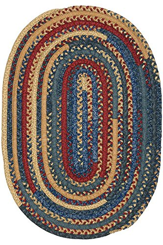 Hearth Braided Area Rug, 5'x7', DENIM