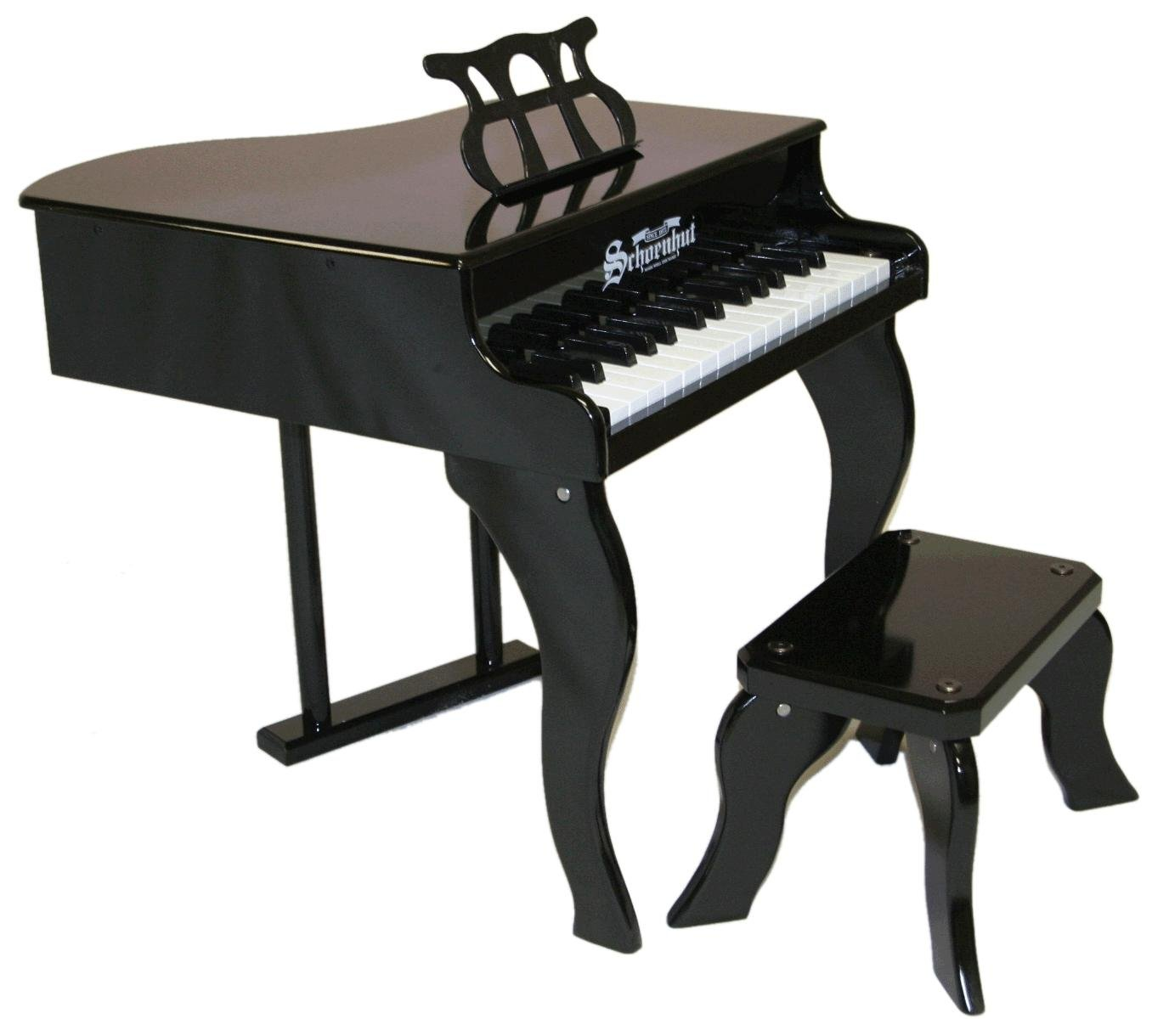 Schoenhut 30-Key Fancy Baby Grand with Bench,Black