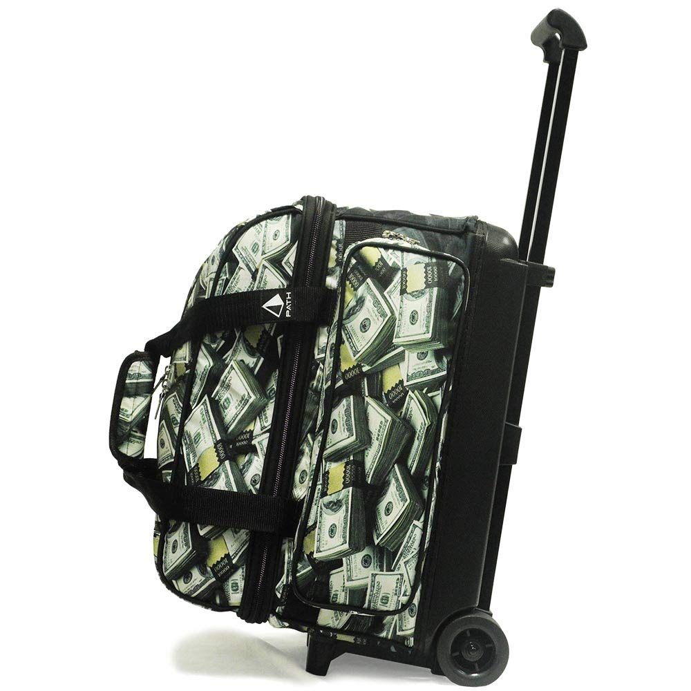 Pyramid Path Deluxe Double Roller with Oversized Accessory Pocket Bowling Bag (Money) by Pyramid