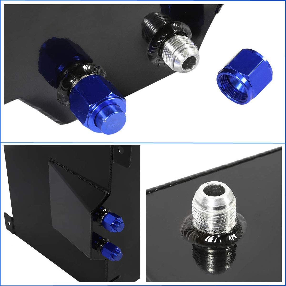 5 Gallon 20L Fuel Cell Polished Aluminum Gas Tank /& Sender Hot Rod Rat Rod V8 Black
