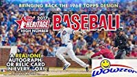 2017 Topps Heritage High Number Baseball MASSIVE Factory Sealed HOBBY Box with 216 Cards including AUTOGRAPH or RELIC & 8 SP's! Look for Autographs of Derek Jeter, Aaron Judge, Cody Bellinger & More!