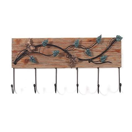 Perchero - Gancho decorativo de madera Perchero de hierro ...