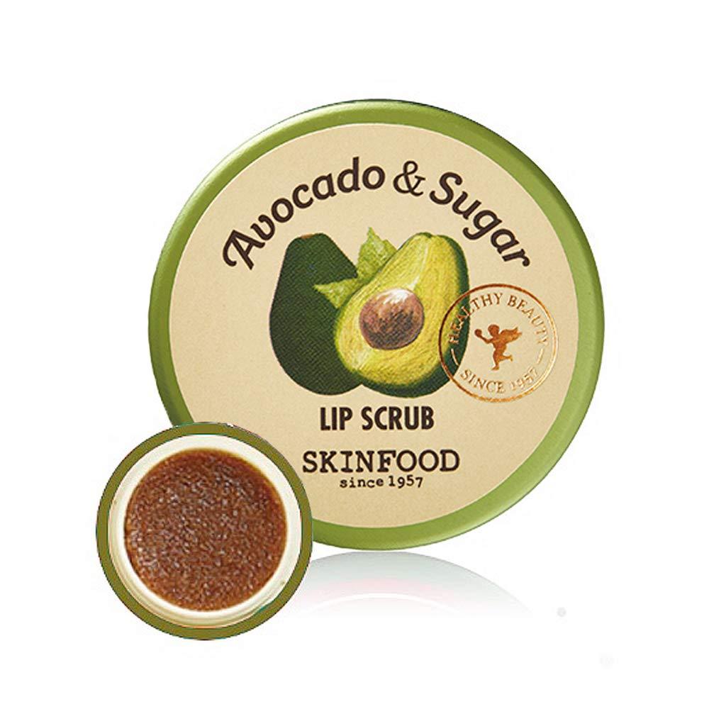 SKINFOOD Avocado Rich Lip Scrub 14g - Removes Dead Skin and Lip Nourishing & Moisturizing and Minerals, Soft Smooth Lips Scrub