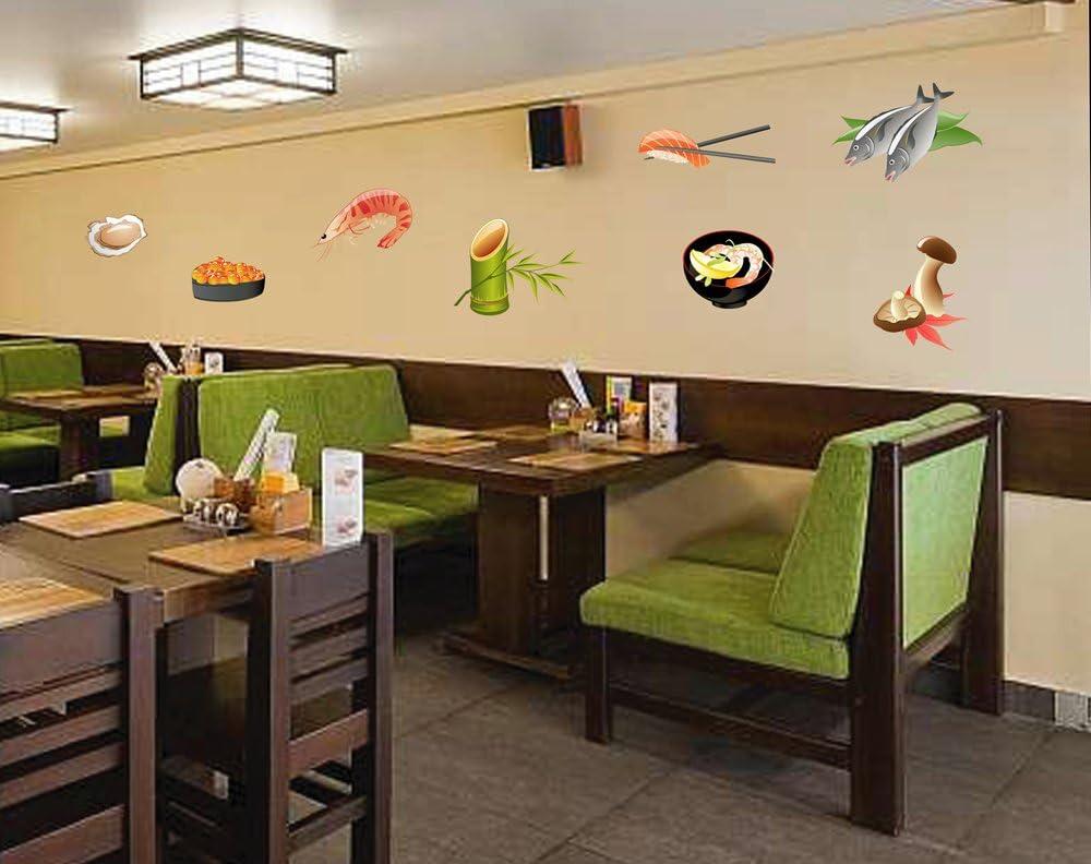 STICKERSFORLIFE cik890 Full Color Wall Decal Japanese Food Fish roe Sushi bar Japanese Restaurant