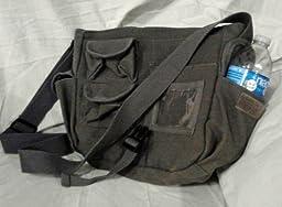 Urban Explorer Black Canvas Shoulder Bag 40