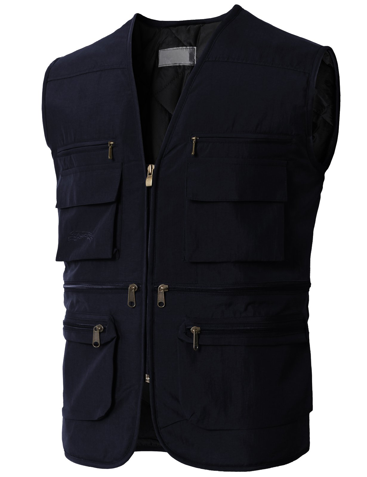 H2H Mens Casual Multi Pockets Travel Fishing Hunting Work Outdoor Photo Vest Camera Navy US L/Asia XL (KMOV0167)