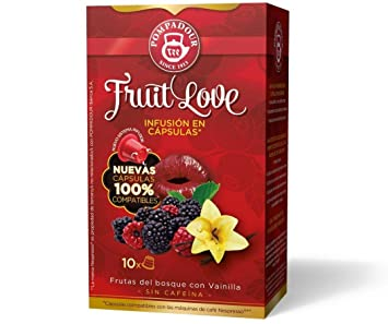 POMPADOUR for the ORIGINAL Nespresso system Capsules - Fruit Love TEA (Red Fruits) -