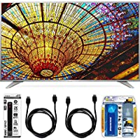 LG 65UH6550 65-Inch 4K UHD Smart TV w/ webOS 3.0 Accessory Bundle includes Television, Screen Cleaning Kit, Power Strip with Dual USB Ports and 2 HDMI Cables
