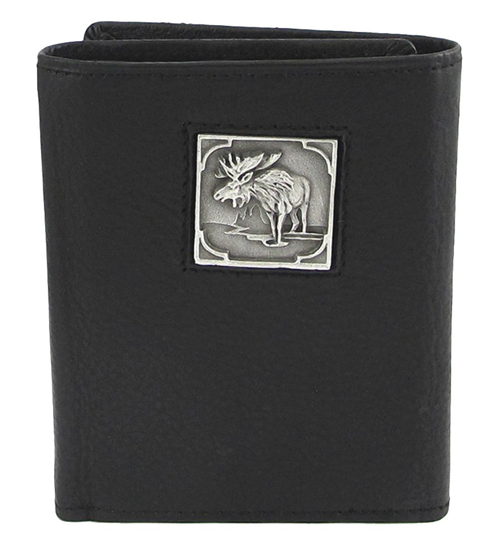 Moose Leather Tri-fold Wallet