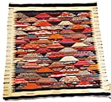 Moroccan Zanafi Tribe Berber Wool Kilim Area Rug 44''x41'' [SHIPS FROM WITHIN USA]