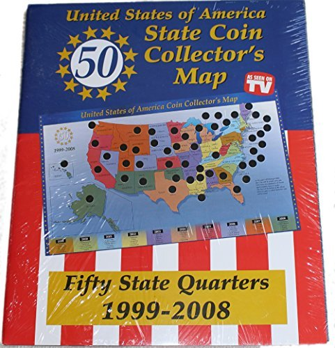 Tri-Star United States of America State Coin Collector's Map ()