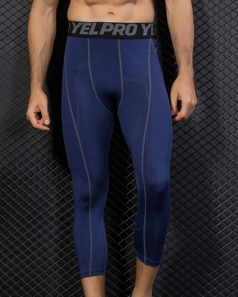 Shengwan Leggings 3//4 Hombre Deportivos Mallas T/érmicos Correr Gimnasio Pantalones de Compresi/ón