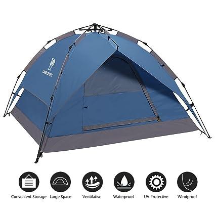 2bc1599994e Amazon.com   CAMEL CROWN 2-3 Person Rainproof Instant Camping Tent ...