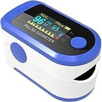 AIQURA pulsómetro de dedo oxígeno – pulsioxímetro de dedo profesional – oxímetro…