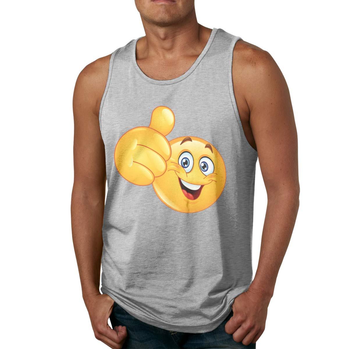 Seuriamin Smiley Face Thumb Up S Fashion Gym Sleeveless Tank Top Shirt