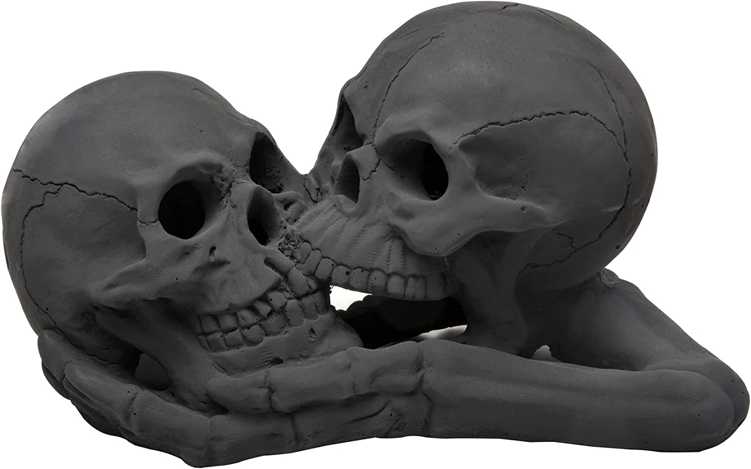 Stanbroil A Pair of Imitated Black Human Skull and Bones Gas Log for Indoor or Outdoor, Fireplaces, Fire Pits, Halloween Decor, 1 Pack - Patent Pending