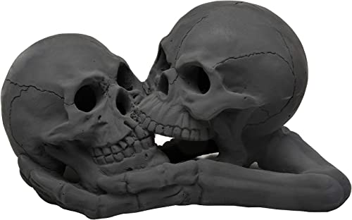 Stanbroil A Pair of Imitated Black Human Skull and Bones Gas Log