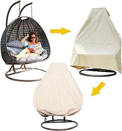 Outdoor Hanging Swing Chair Cover Waterproof Rattan Egg Seat Garden Furniture