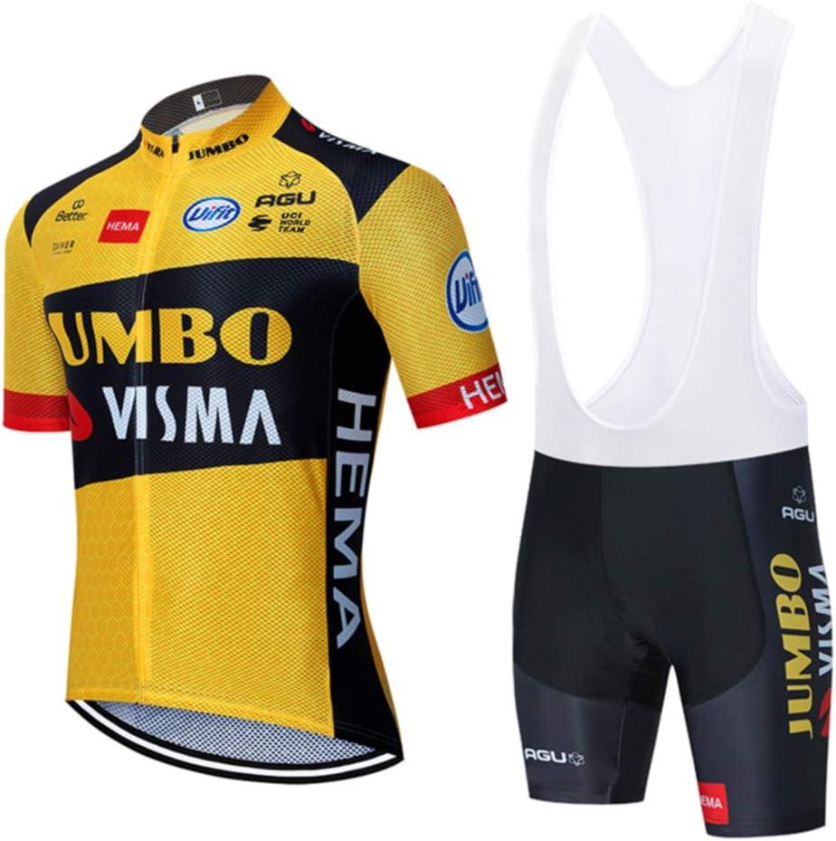 CHHBS Traje Equipacion Ciclismo Hombre Verano con 5D Acolchado De Gel,Traje Ciclismo Hombre Maillot Ciclismo + Pantalon Bicicleta: Amazon.es: Deportes y aire libre