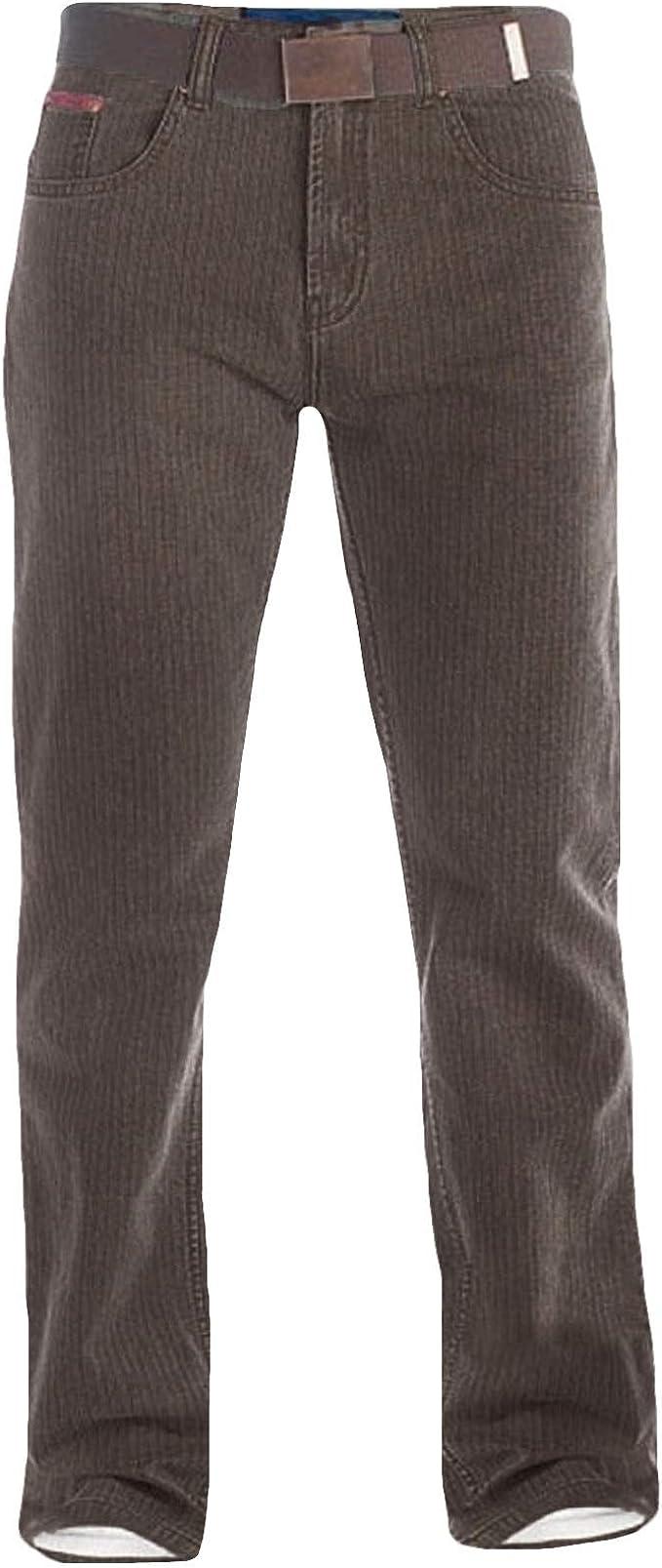 with Belt in Brown Duke London Mens Regular Beford Cord Jeans Brian