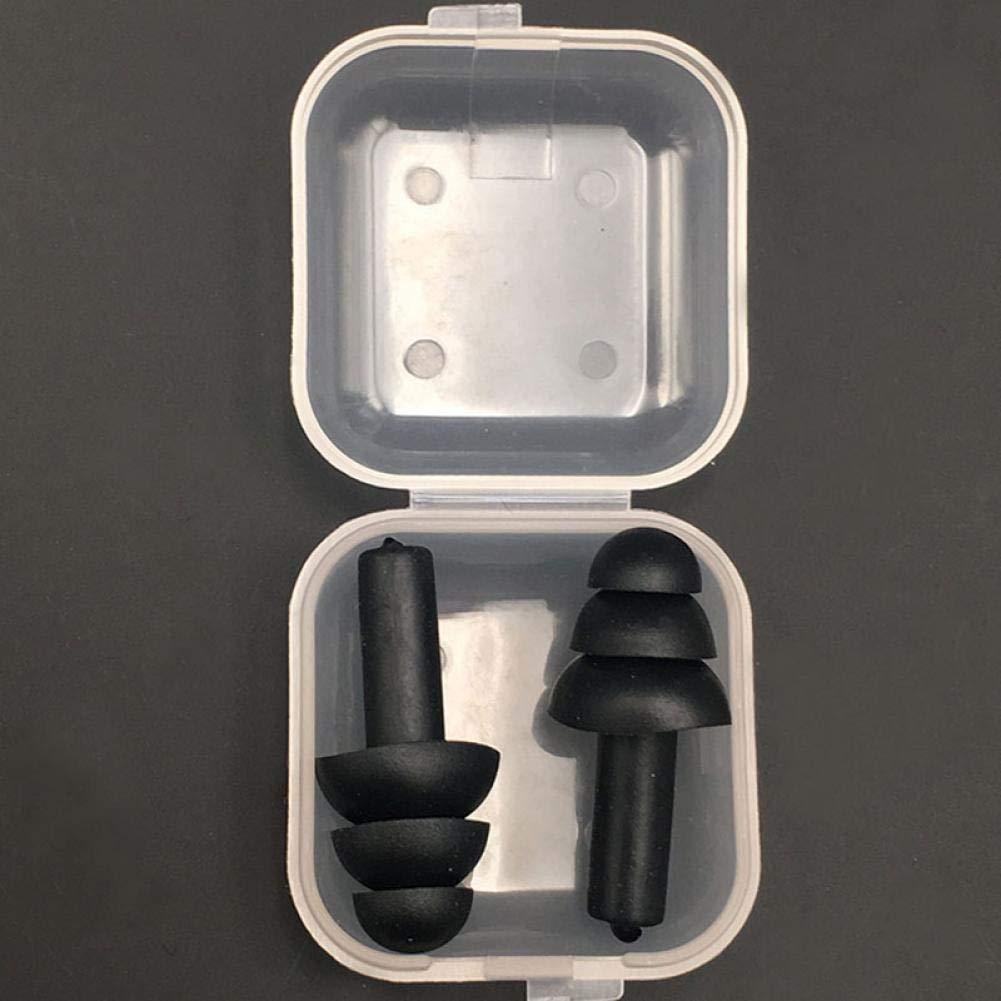 Lankater De Silicona Suave Tapones para los o/ídos de Aislamiento de Sonido de la protecci/ón auditiva Tapones para los o/ídos contra el Ruido El Tapones para Dormir para Reducir el Color al Azar