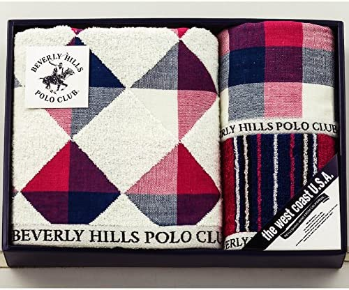BEVERLY HILLS POLO CLUB(ビバリーヒルズ ポロクラブ) タオルギフトセット マルチカラー バスタオル:60×120cm、フェイスタオル:34×75cm