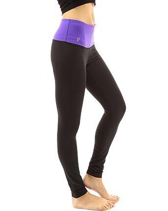 44d3ca745c40f PattyBoutik Women's Shaping Series Hi-Rise Legging Yoga Pant (Purple and  Black ...