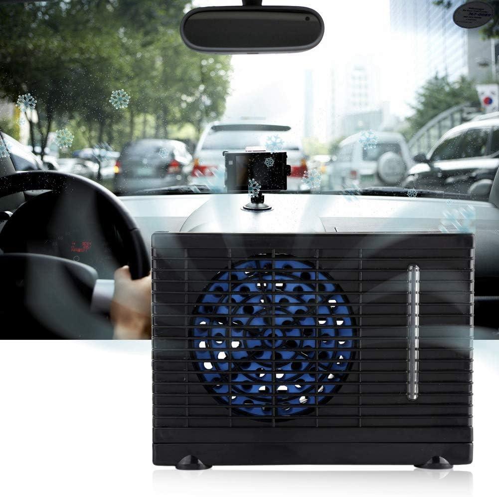 Mini evaporador de Aire Acondicionado portátil de 12 V, Ventilador móvil con Enfriador de Agua con tapete Antideslizante para el hogar y el automóvil