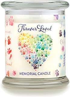 product image for One Fur All - Pet Memorial Candle - Furever Loved Pet Eco-Friendly Natural Soy Wax Candle, Non-Toxic & Paraffin-Free Reusable Glass Jar Candle, Cat & Dog Memorial Candle, Up to 60 Hours Burn Time