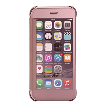 imusi iphone 6 plus cases, mirror smart clear view window flip case