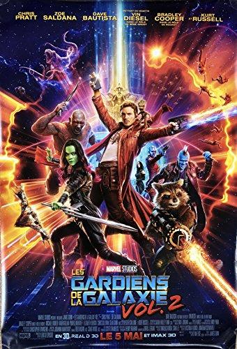 (GUARDIANS OF THE GALAXY VOL. 2 (2017) Original Authentic Movie Poster 27x40 - Dbl-Sided - FRENCH VERSION - FINAL - Chris Pratt - Zoe Saldana - Dave Bautista - Bradley)