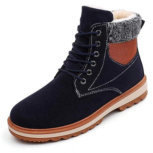 Botas De Nieve para Hombre Gamuza Botines CáLidos Calzados Informales con Calzado Antideslizante De Piel Suave para El Invierno: Amazon.es: Zapatos y ...