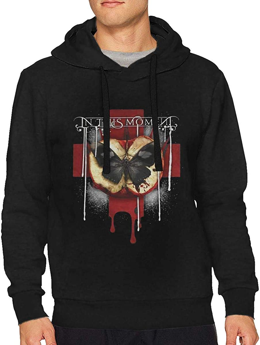 in This Moment Rotten Apple Band Logo Mens Long Sleeve Hooded Sweatshirt Sweater Pullover Hoodie