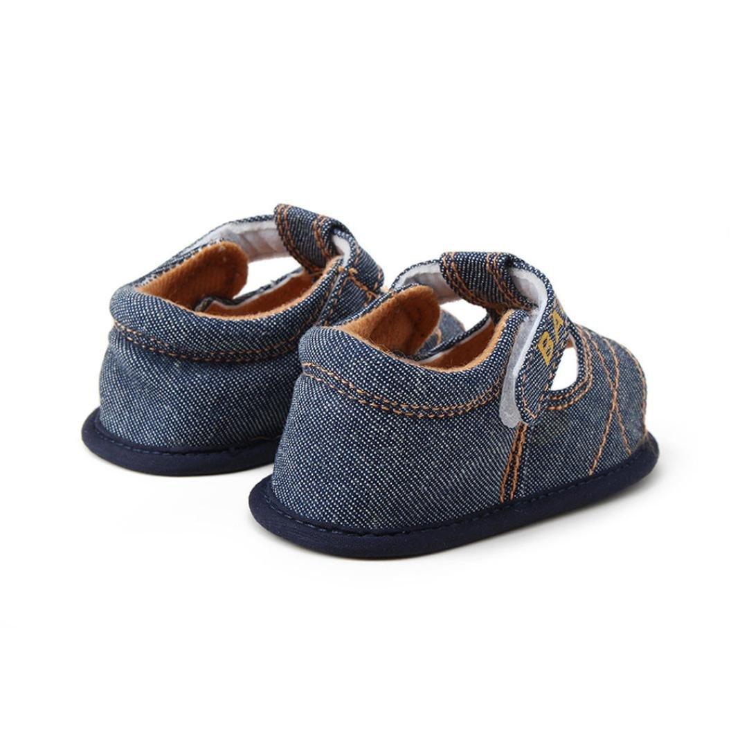 Ec Baby Kids Girl Boy Soft Sole Crib Toddler Newborn Denim Sandals Shoes