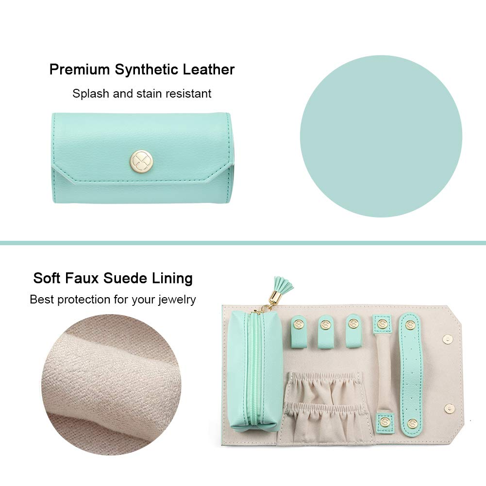 Lipstick//Daily Jewelries Storage Soft Case Green two the nines Vlando Rollie Portable Jewelry Roll