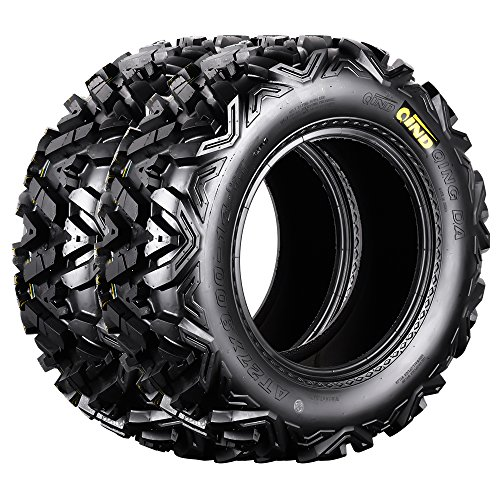 Qind QD-161 ATV Tires 27x9-14 6 Ply Load C Pack of 2 (Rubber Swing Bumper)