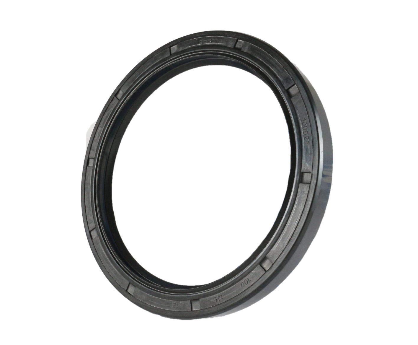 Oil Seal 100X125X13 Oil Seal Grease Seal TC (5 PCS) | EAI Rubber Double Lip w/Garter Spring 100mmX125mmX13mm | 3.937''x4.921''x0.512''