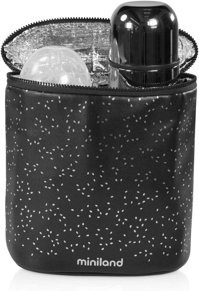 Silver. Portabiberones t/érmico Funda Isot/érmica doble para biber/ón y termo Bolsa para biberones y termos Colecci/ón Deluxe Miniland
