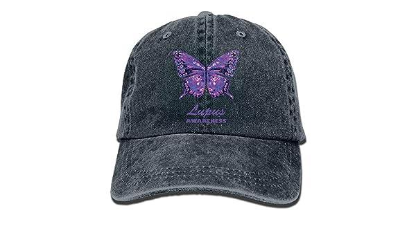 linranshangmao Gorra de Béisbol Lupus Awareness Butterfly Gorras ...